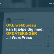 Webbureau - WordPress hjemmeside og opdateringer - OKEIwebbureau