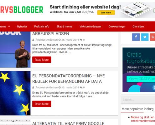 Erhvervsblogger.dk - Gode råd til iværksættere - WPIndex.dk