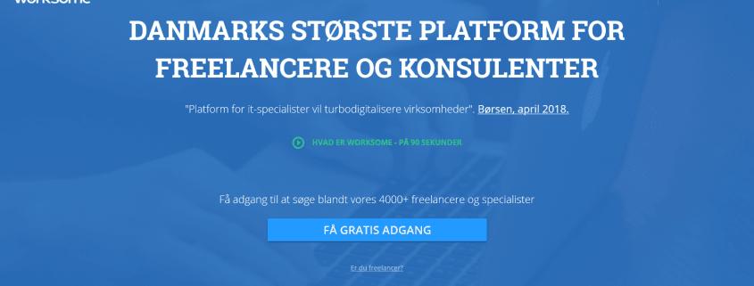 Worksome - Danmarks største platform for freelancere og konsulenter - WPIndex.dk