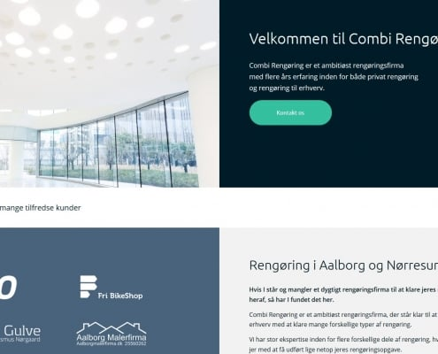 Combi Rengoering Privat Erhverv Nordjylland Aalborg WordPress Website WPIndex dk
