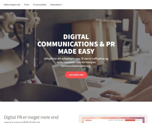 Danmarks foerende digitale PR platform Mynewsdesk WordPress Website WPIndex dk