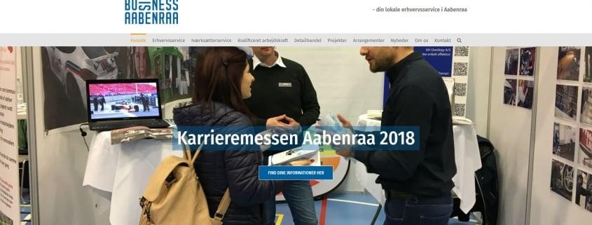 Erhvervsforening BusinessAabenraa SydDanmark WordPress Website WPIndex dk