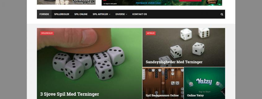 Terningspil og andre sjove spil WordPress Website WPIndex dk