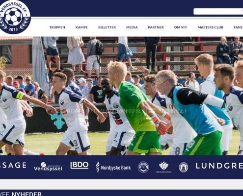 Vendsysselff Fodbold Nordjylland WordPress Website WPIndex dk