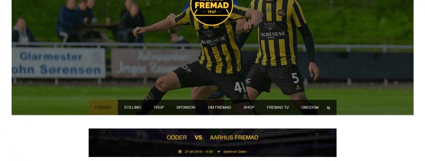 Aarhus Fremad Fodbold Velkommen paa Riisvangen WordPress Webiste WPIndex dk