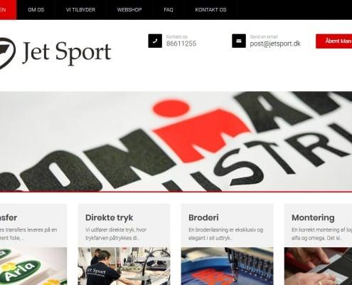 Jet Sport Skandinaviens stoerste tekstiltrykkeri med base i Viborg Midtjylland WordPress Website WPIndex dk
