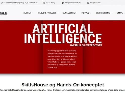 SkillsHouse Kurser Hilleroed Skoedstrup WordPress Website WPIndex dk