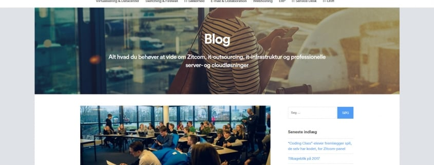 Zitcom blog Alt hvad du behoever at vide om Zitcom it outsourcing it infrastruktur og professionel hosting WordPress Website WPIndex dk
