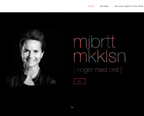 Majbritt Mikkelsen Noget med ord Kommunikation Silkeborg Midtjylland WordPress Website WPIndex dk