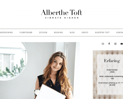 Alberthe Toft Vibrate Higher Numerologi WordPress Website WPIndex dk