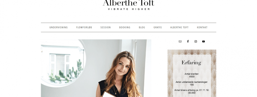 Alberthe Toft Vibrate Higher Numerologi WordPress Website WPIndex dk