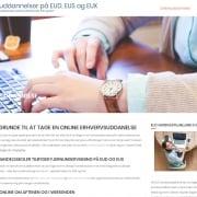 Onlineuddannelse Laes mere om EUS online for studenter og HHX her Holbaek WordPress Website WPIndex dk