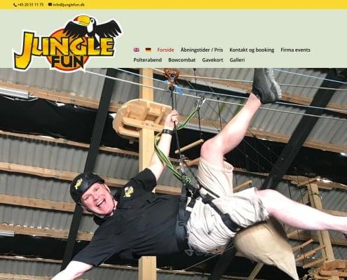 Klatrepark indendoers i Oksboel Test dit mod High rope klatring 6 baner Junglefun WordPress Website WPIndex dk