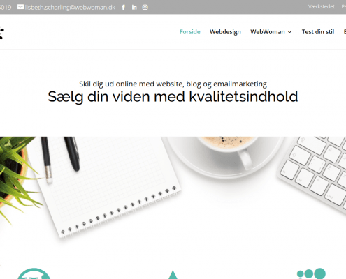 Online content marketing Moderne website med personlighed WordPress Website WPIndex dk