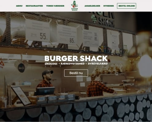 Burger Shack Oekologi Baeredygtighed Dyrevelfaerd WordPress Website WPIndex