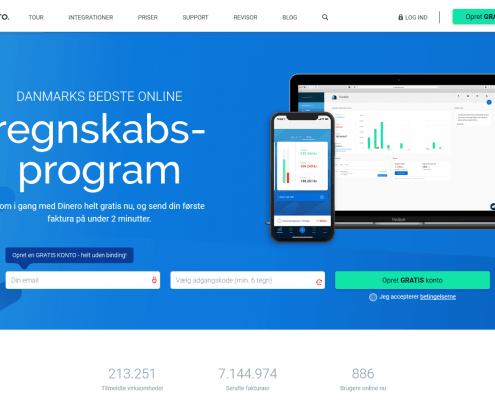 Nemt og gratis regnskabsprogram Dinero WordPress Website WPIndex dk