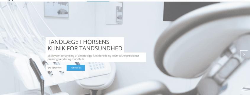 TandlaegeiHorsens Tandbehandling Klinikfortandsundhed WordPress Hjemmeside